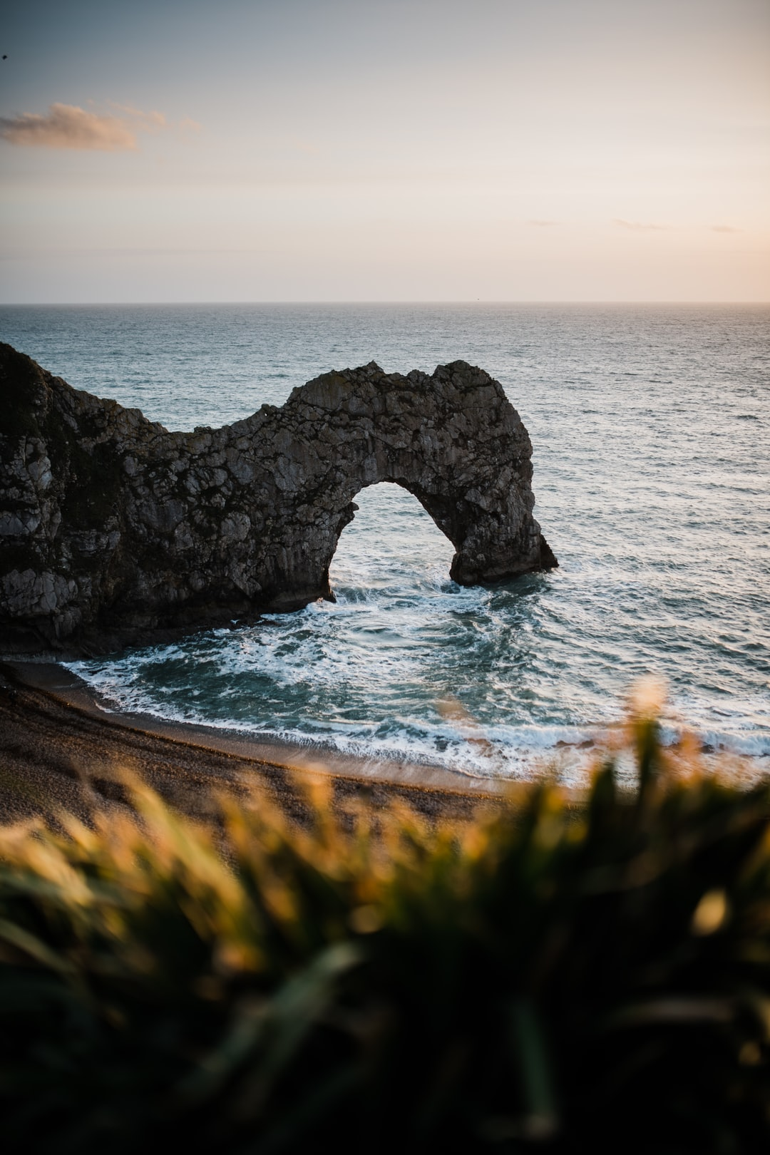 Durdle Door on the Dorset coastline, UK
