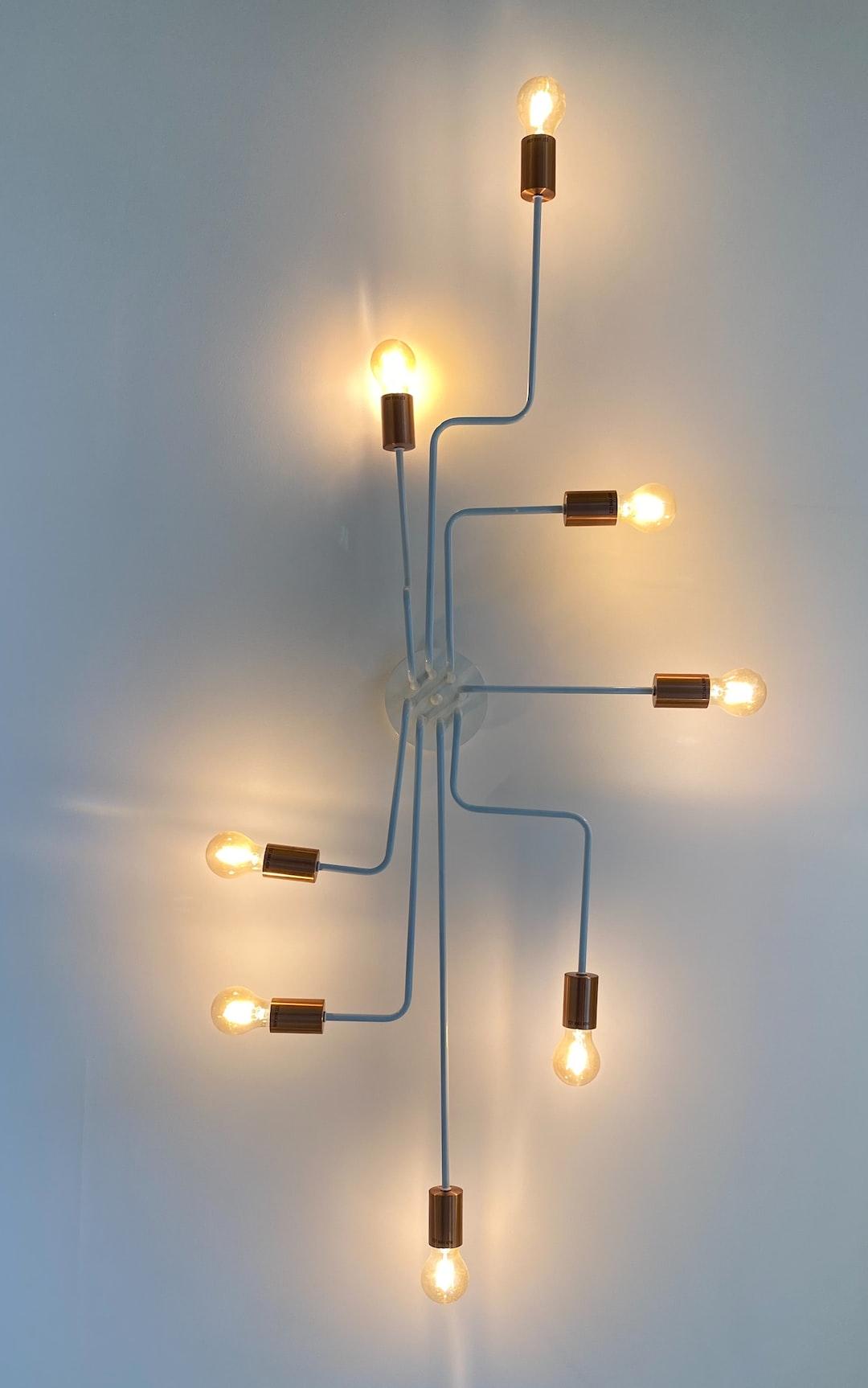 Interconnected light fixture.