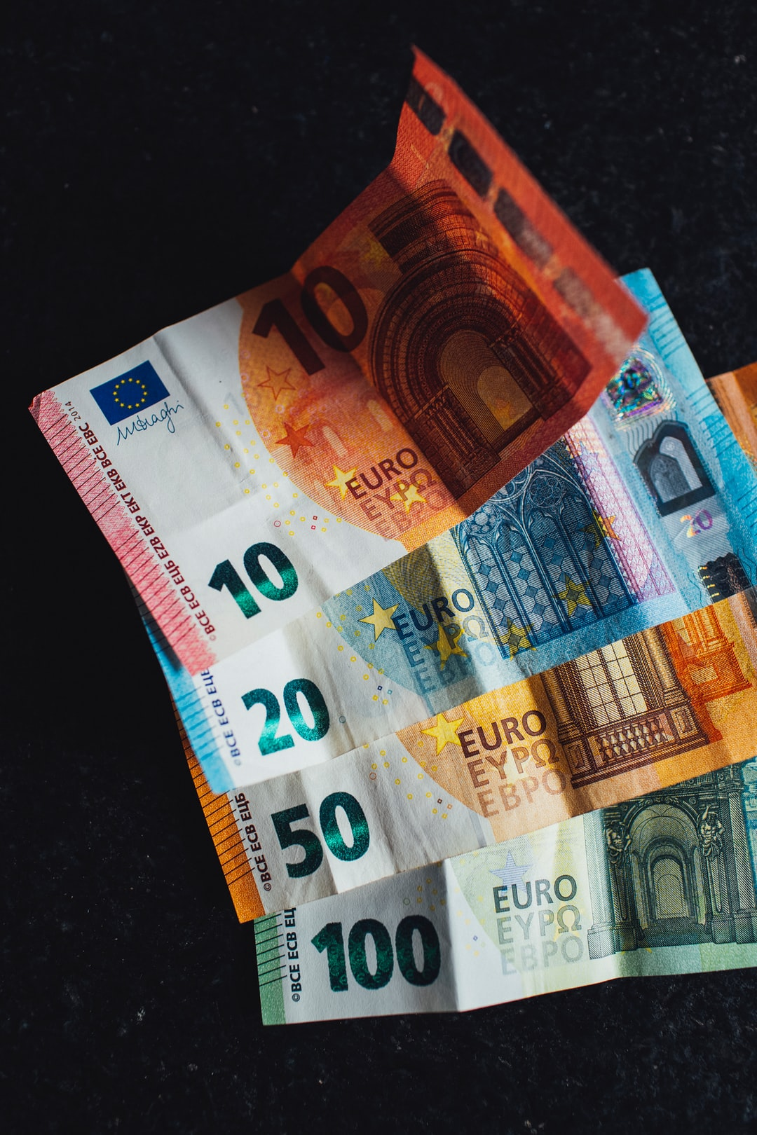 A lot of cash EURO banknote cash money € 10,- € 20,- € 50,- and € 100,-