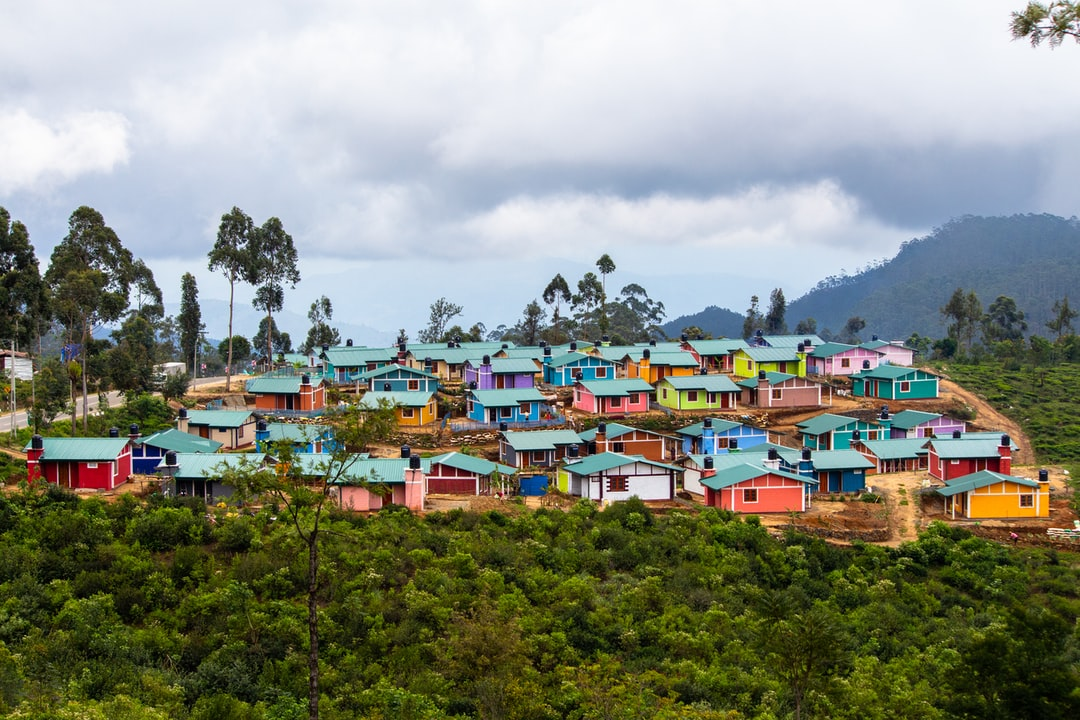 a colorful town in sri lanka