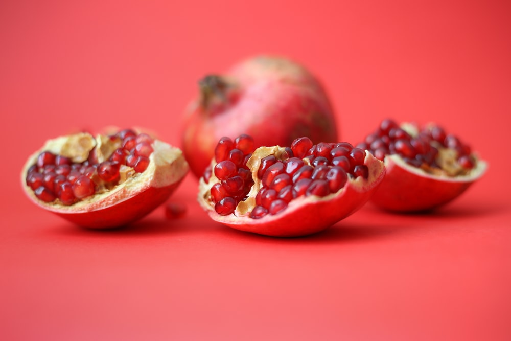 red fruit on red table