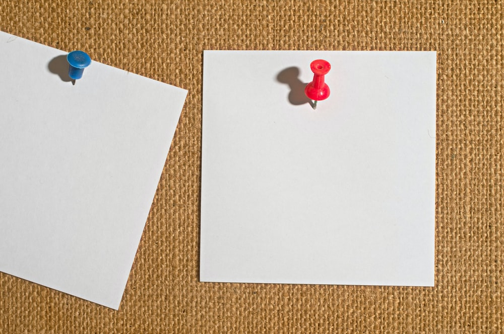 red heart on white paper