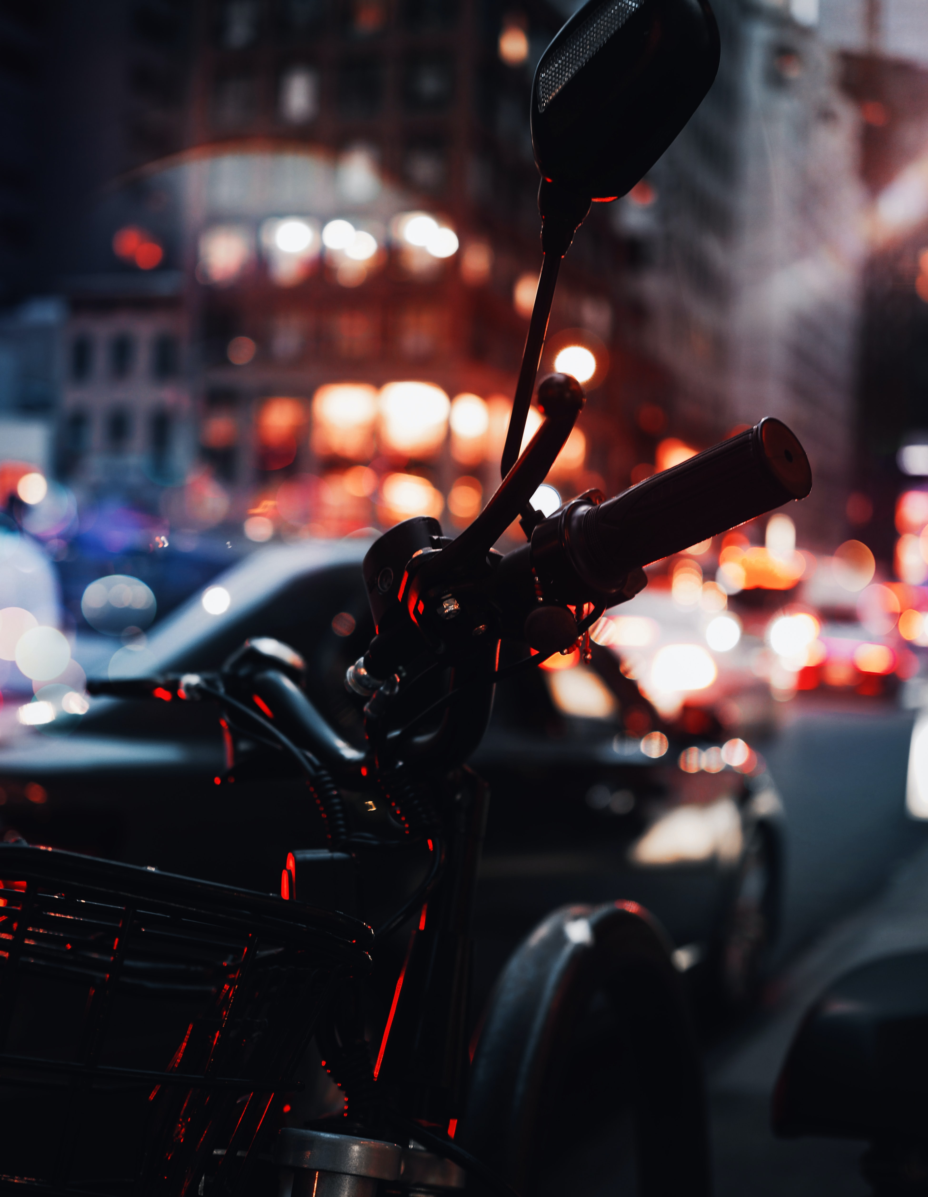 Black And Red Motorcycle In Bokeh Photography Photo Free New York Image On Unsplash