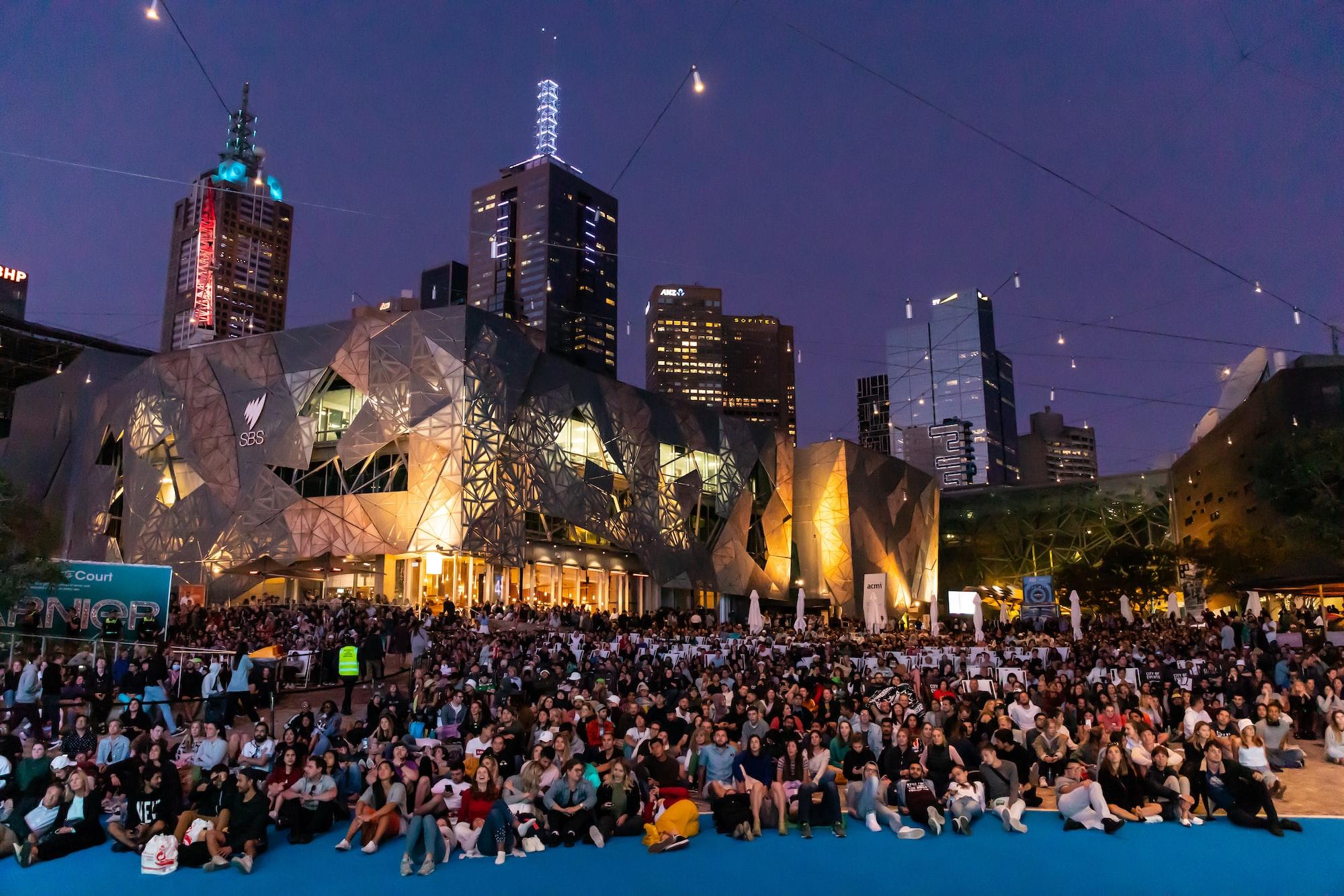 Australian Open Men's Final Night, Federation Square