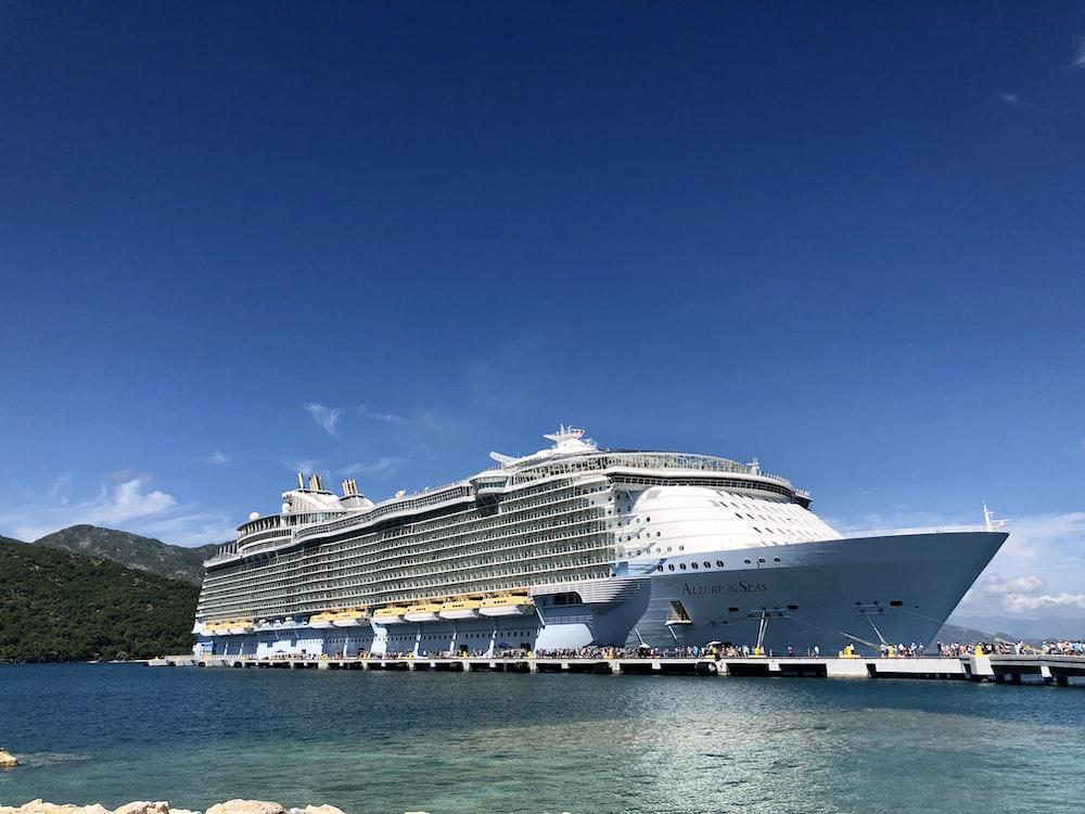 white cruise ship on sea under blue sky during daytime