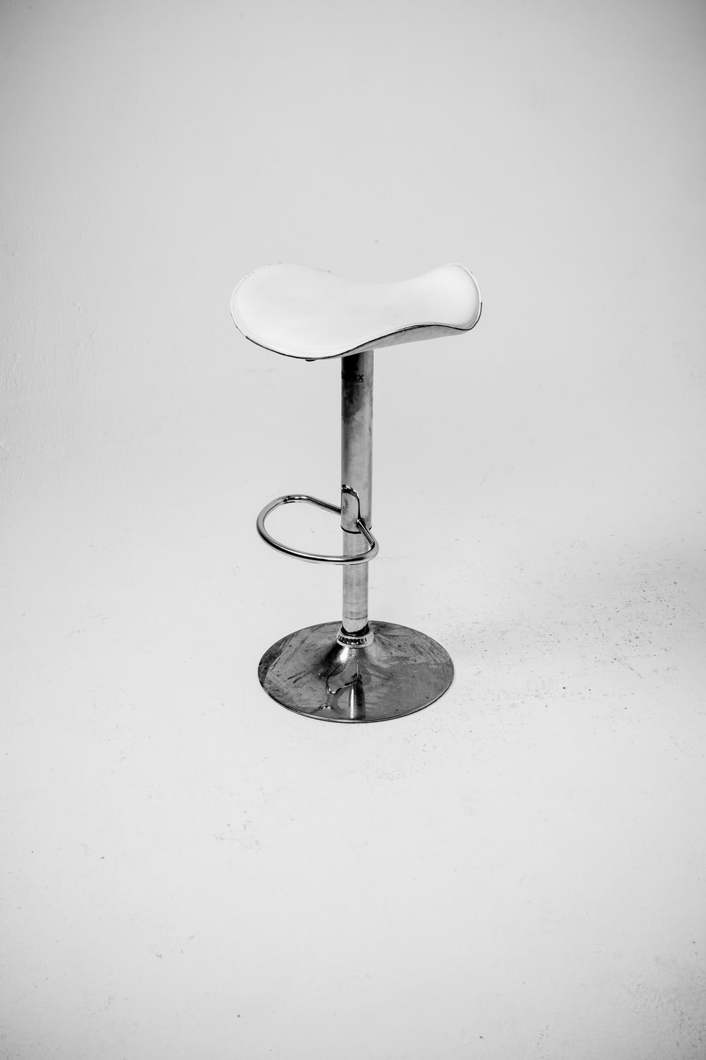 white and silver bar stool