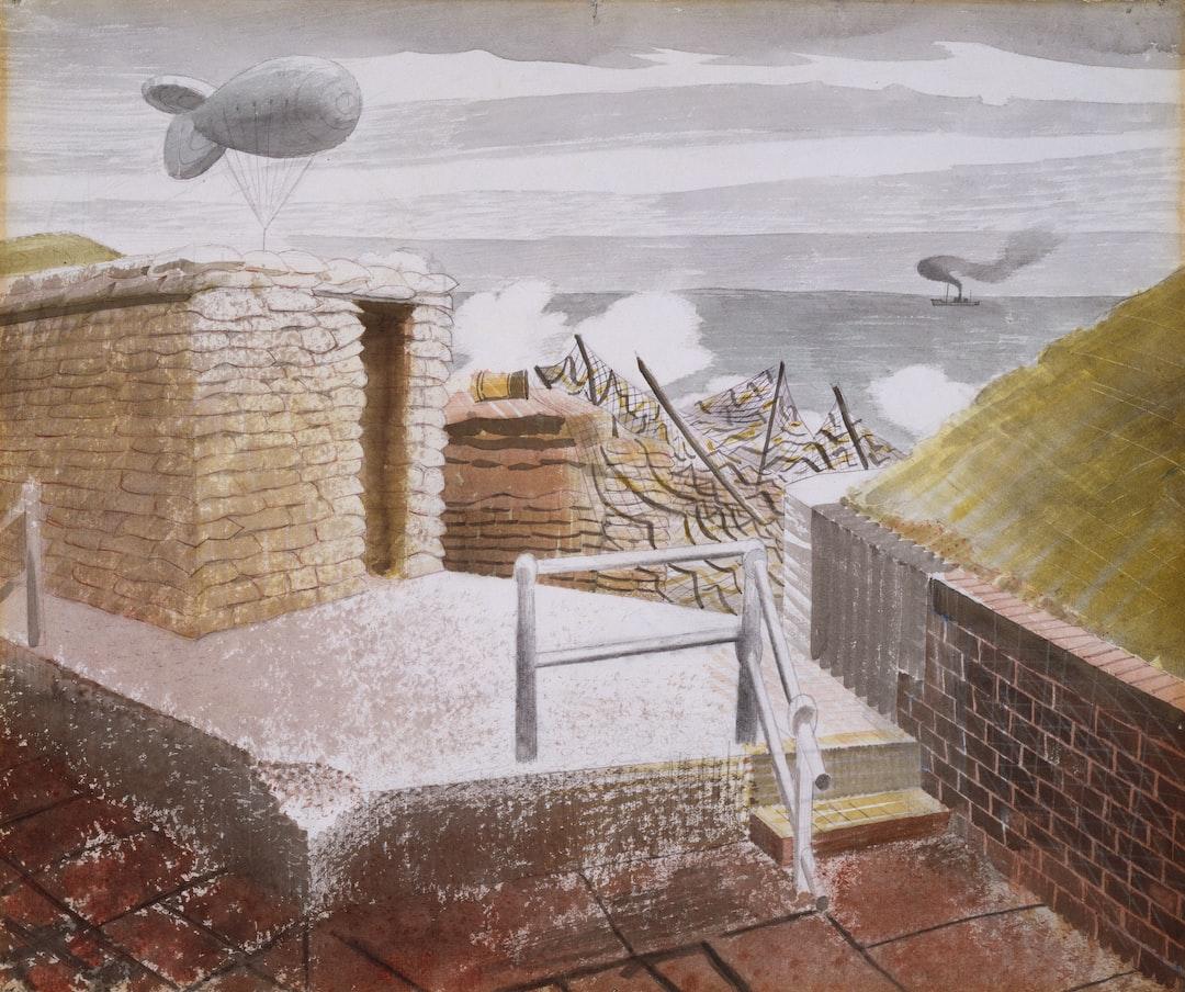 Coastal Defences, 1941 by Eric Ravilious (d. 1942)