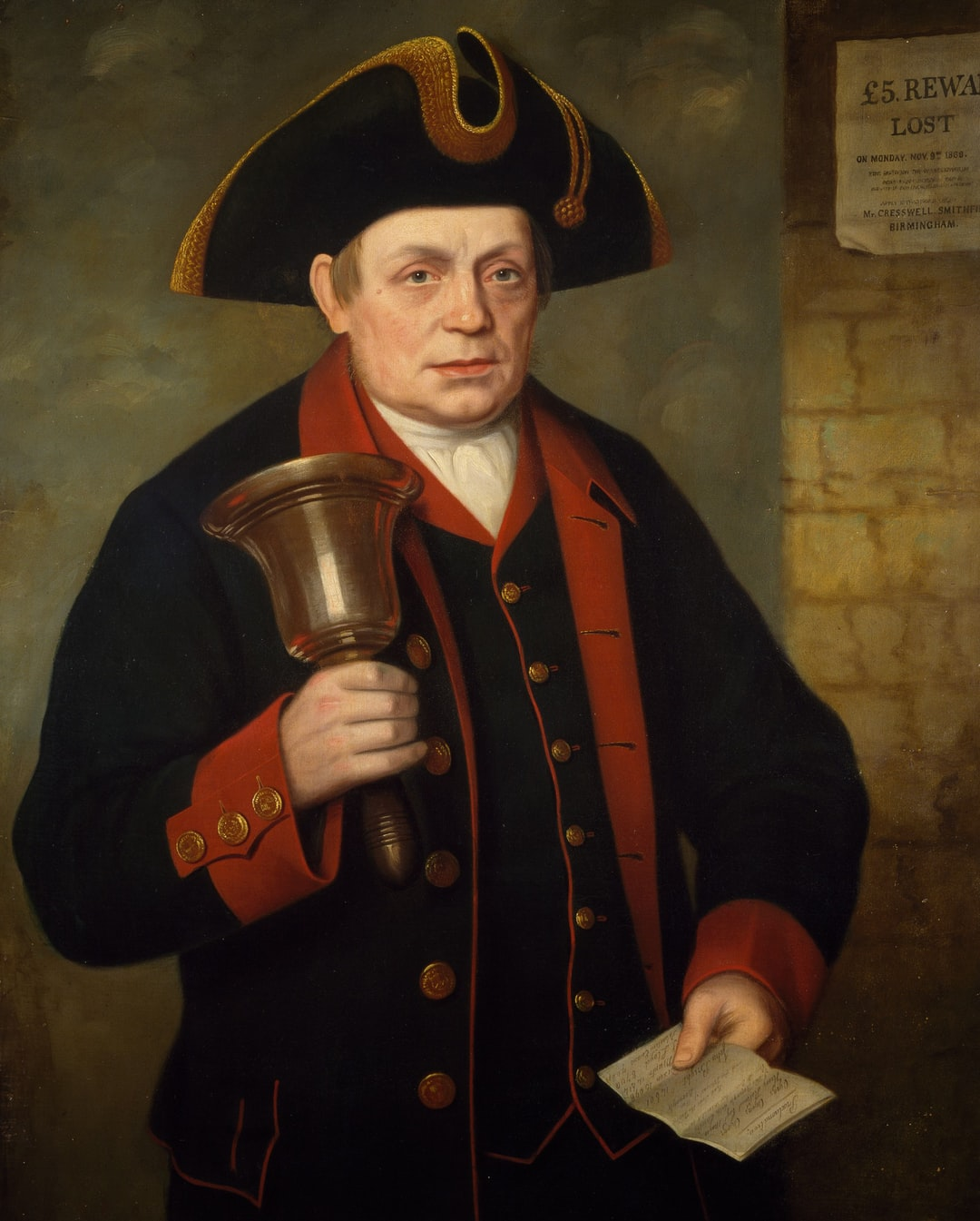 Portrait of Jacob Wilson (1799-1882) Last Birmingham Town Crier, 1868-69 by William Thomas Roden