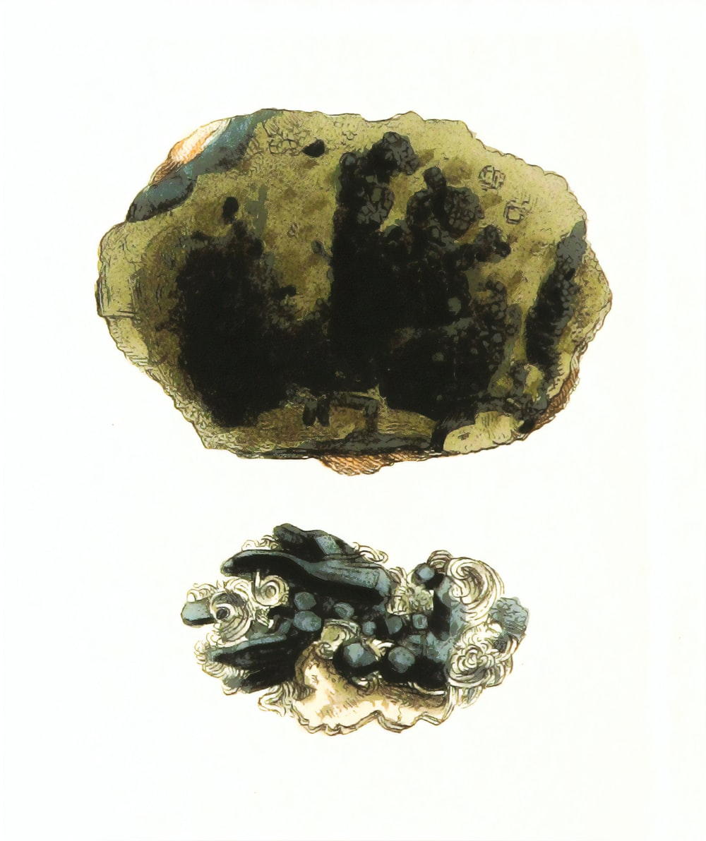 black and brown stone fragment