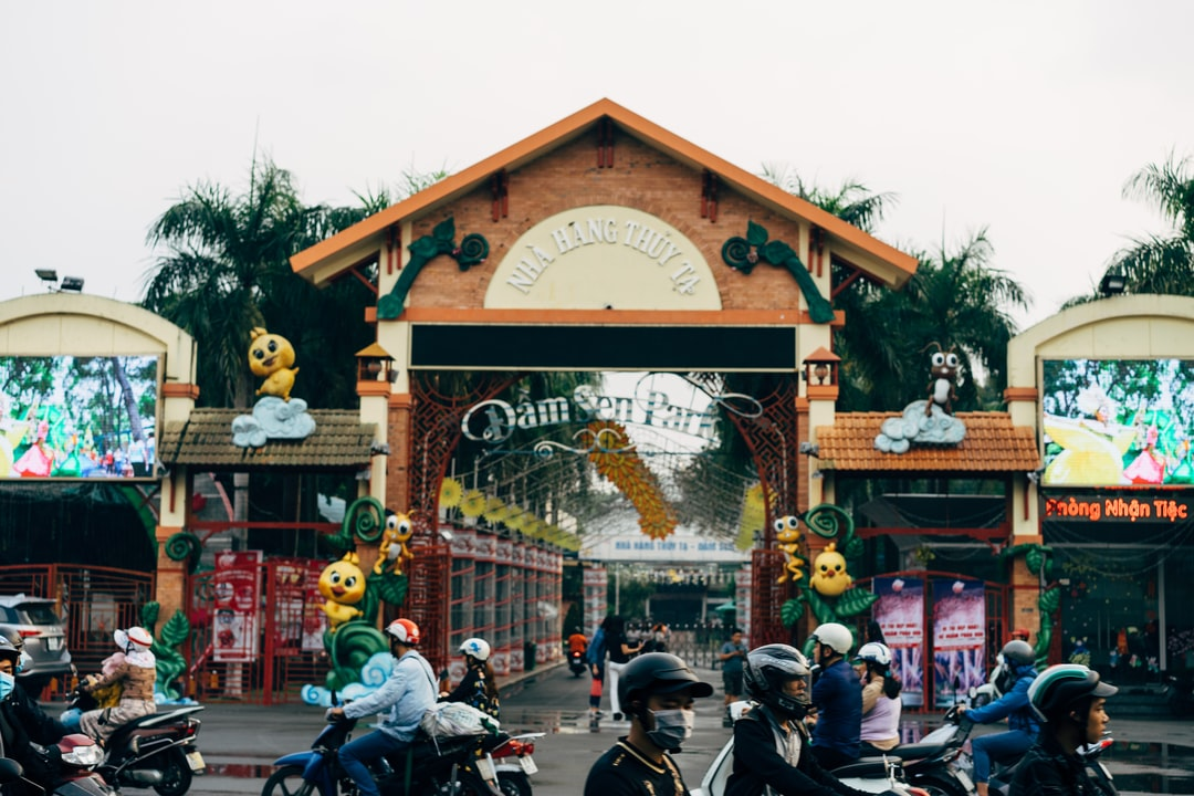 Entrance to the Dam Den Park in Ho Chi Minh CIty