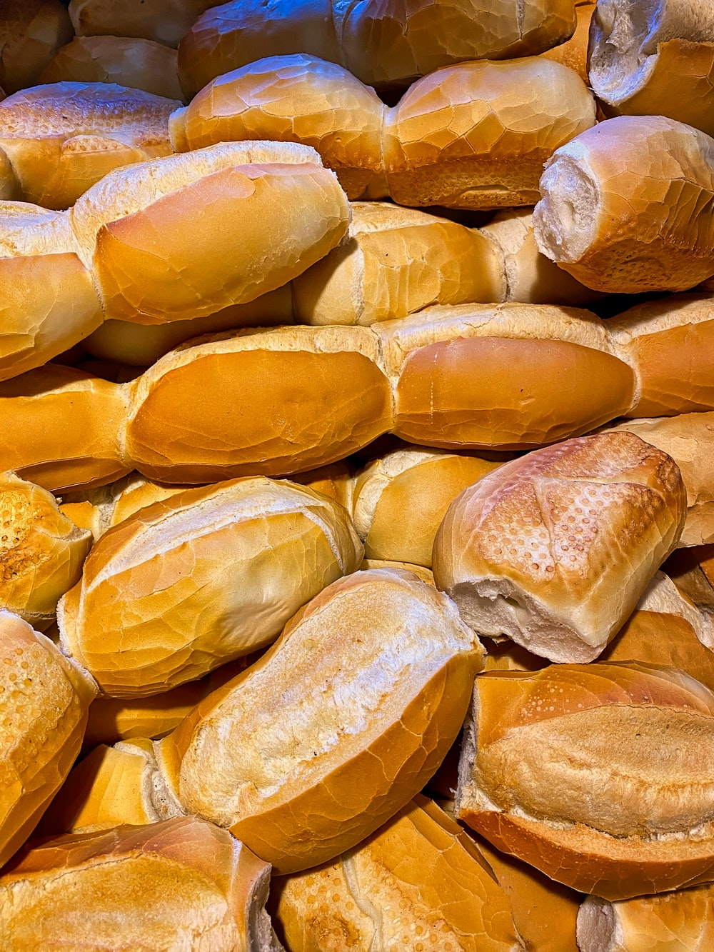 close up photo of yellow bread