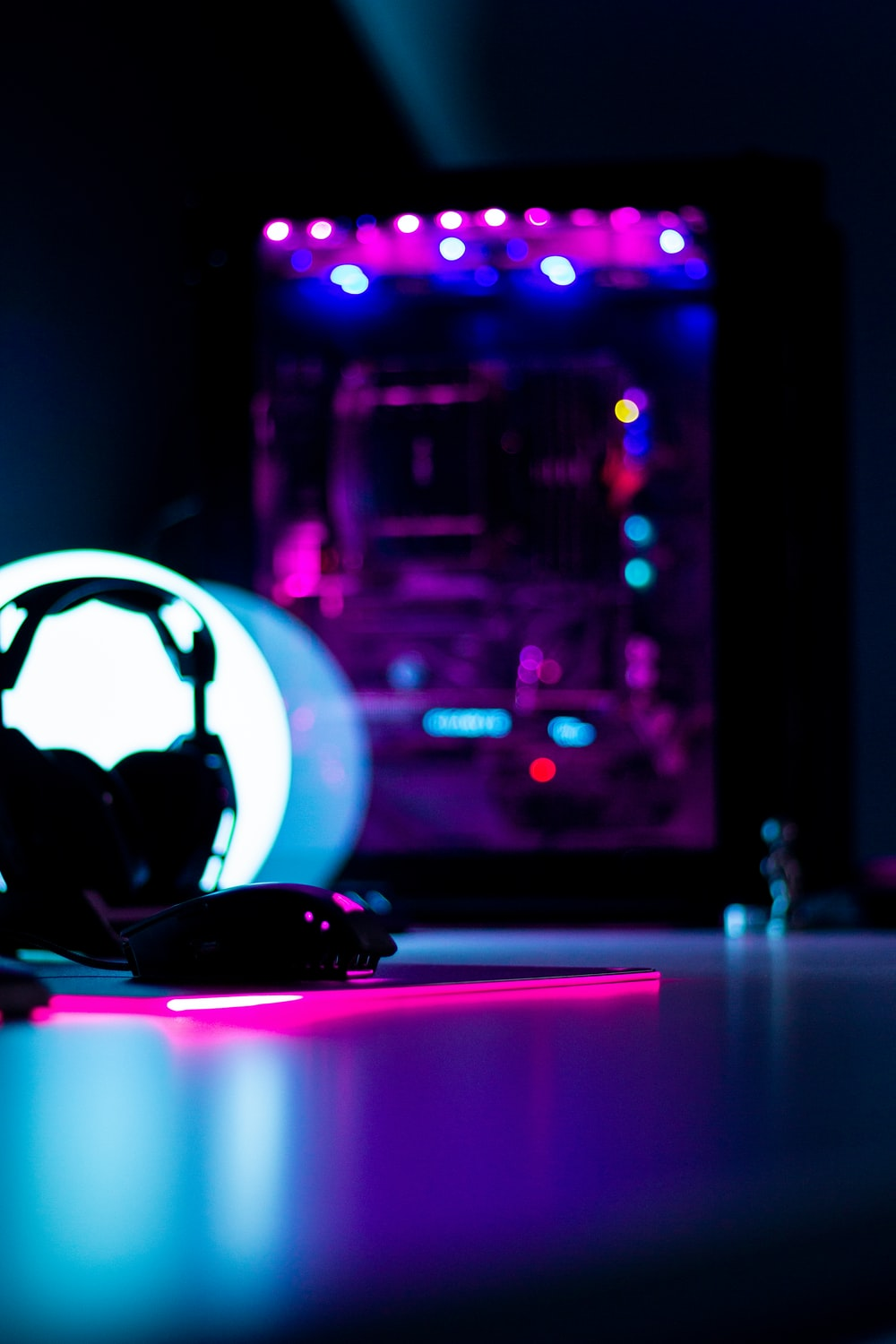 white and black soccer ball on table