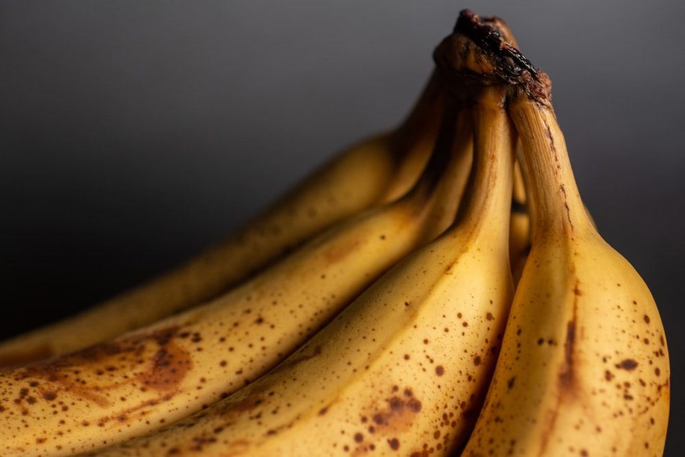 yellow banana fruit in close up photography