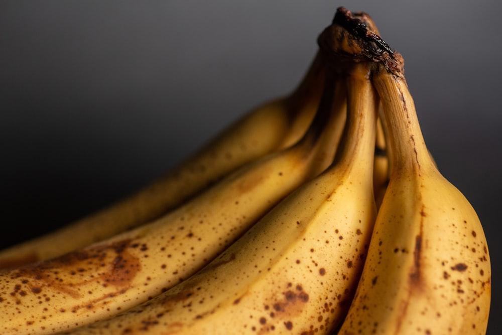 クローズアップ写真で黄色いバナナの果実 シュガースポット