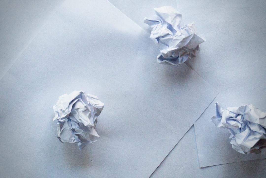 Scrap paper and crumpled paper