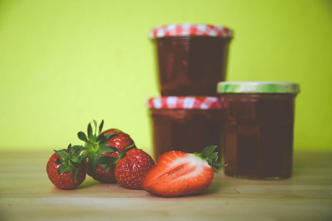 Fresh homemade bio strawberry jelly jam
