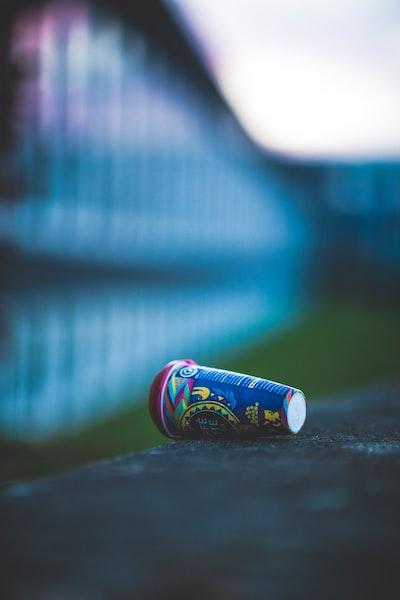 Plastic waste garbage, trash, rubbish – Cold coffee instant to go