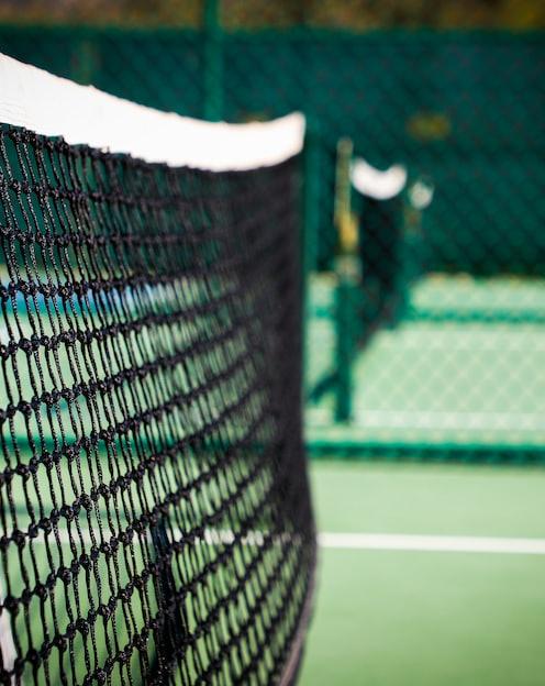 white net on green field