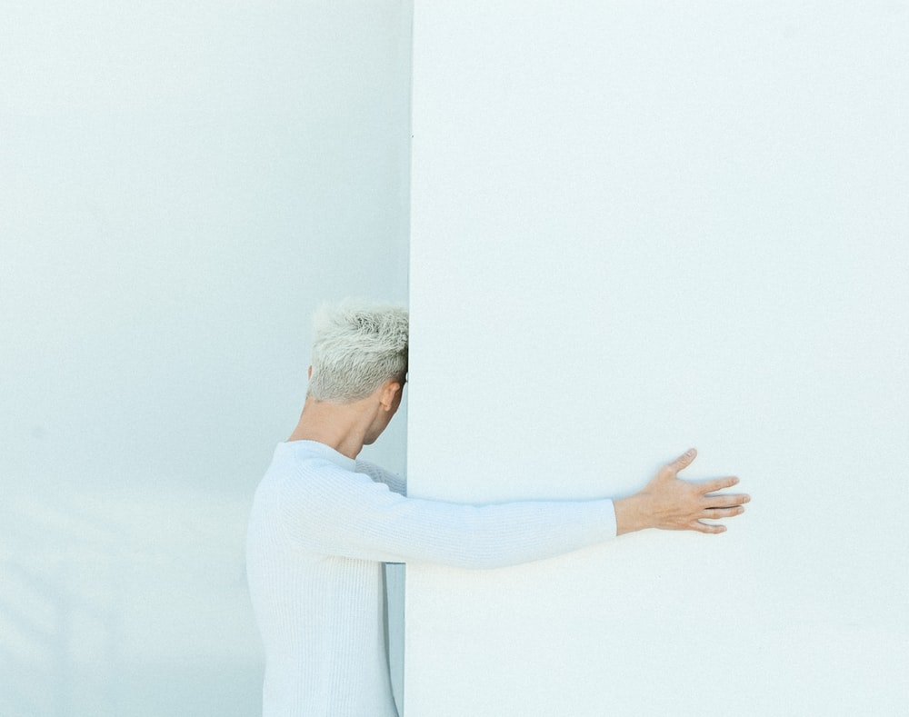 man in white long sleeve shirt
