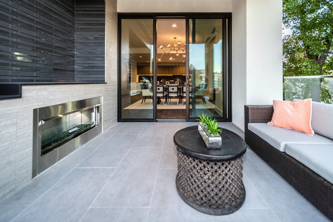 Balcony terrace of a luxury modern condominium