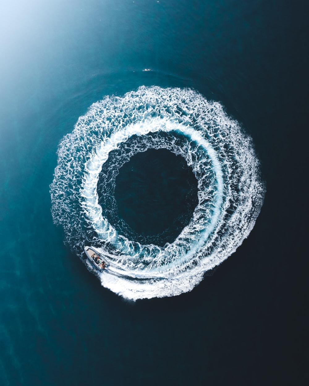 round hole in water in close up photography
