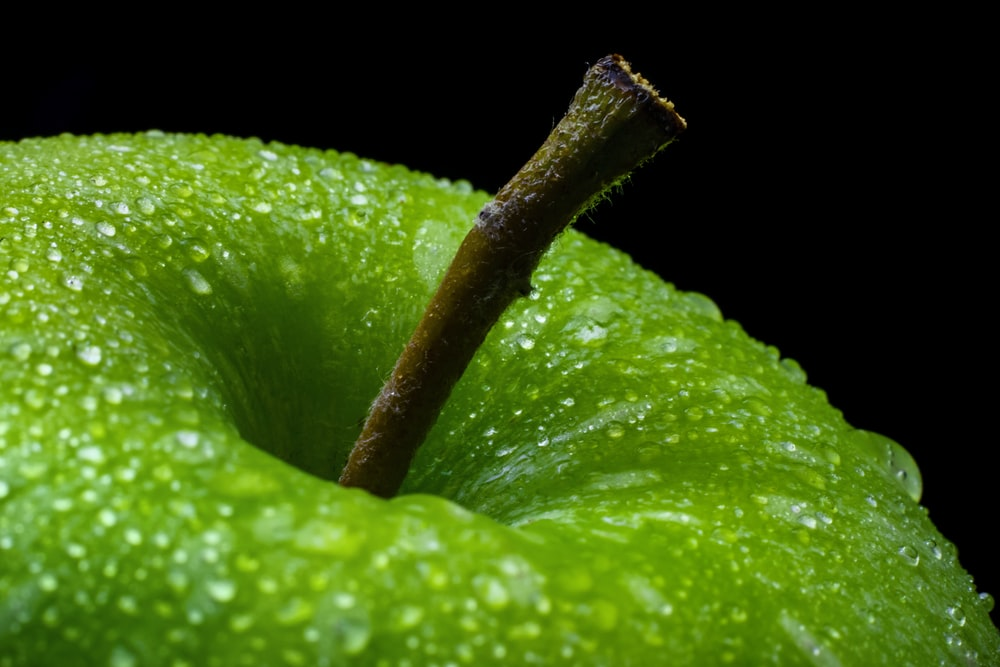 green apple fruit with white background