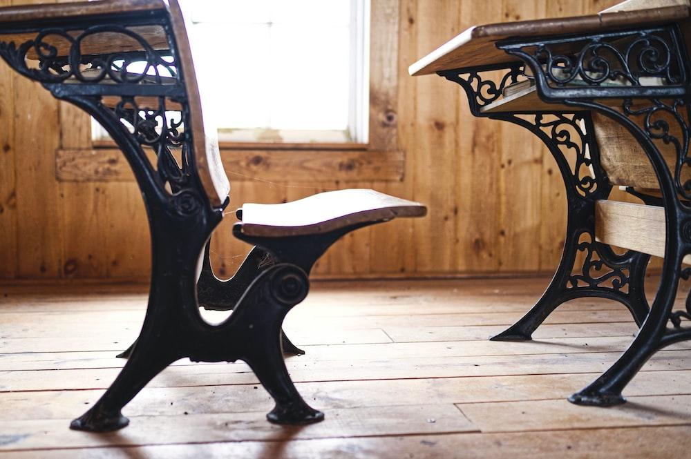 brown wooden chair on brown wooden floor