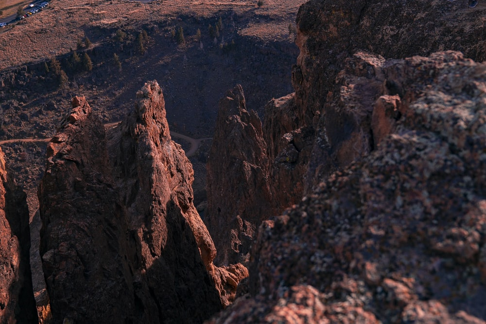 brown rock formation during daytime