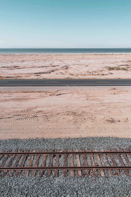 brown and black train rail