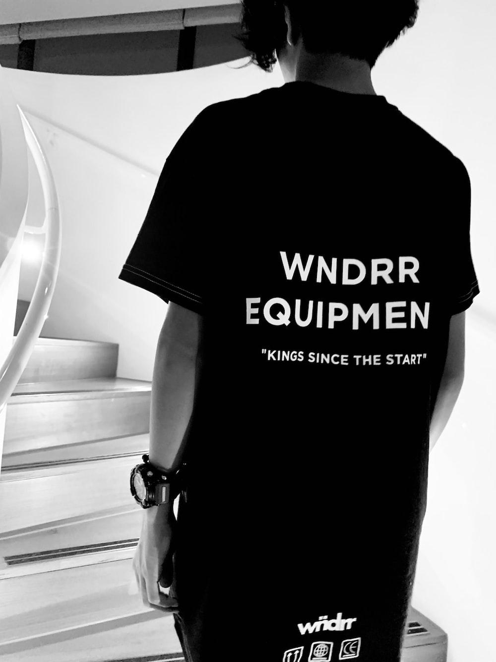 black and white crew neck t-shirt