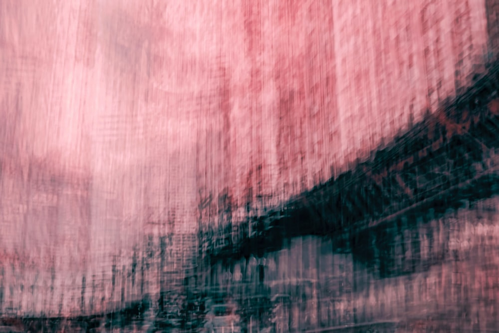 pink and black abstract painting