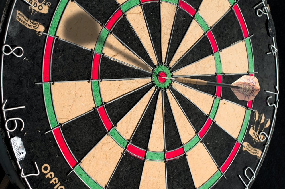 brown and black round board