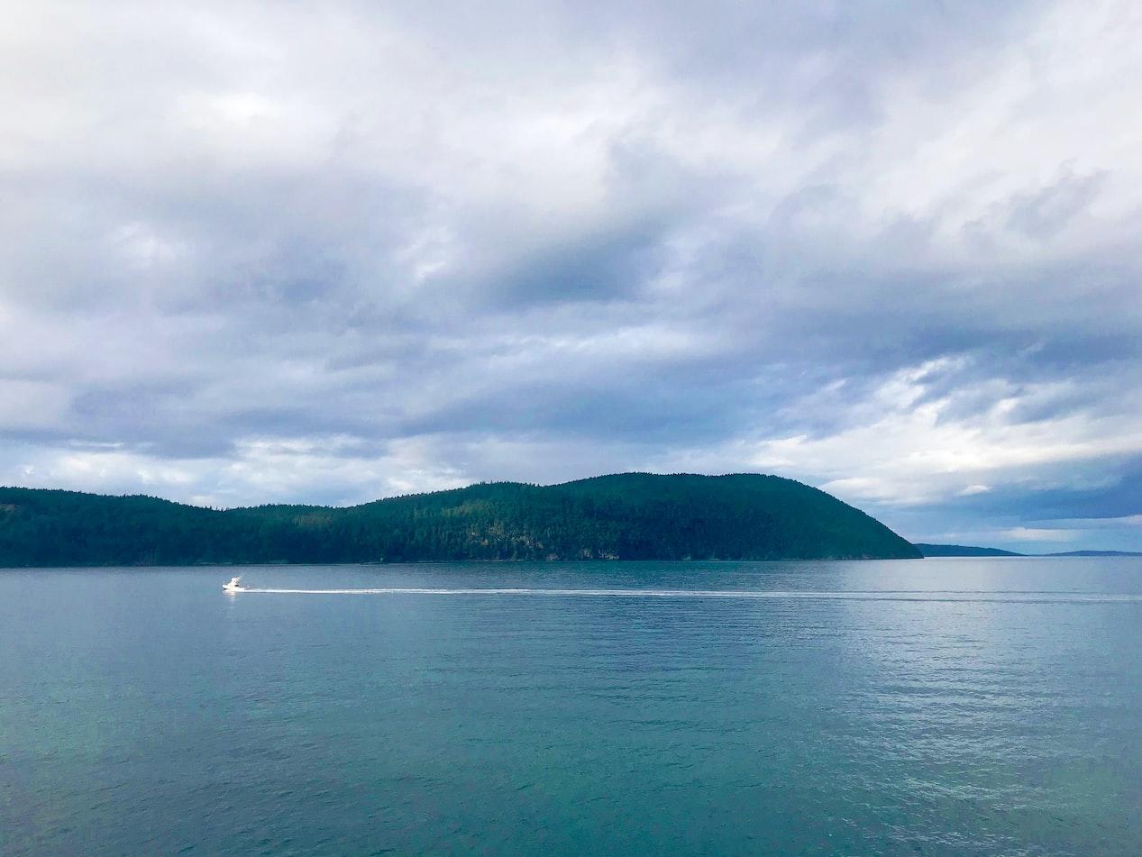 view of the San Juan Islands in Washington