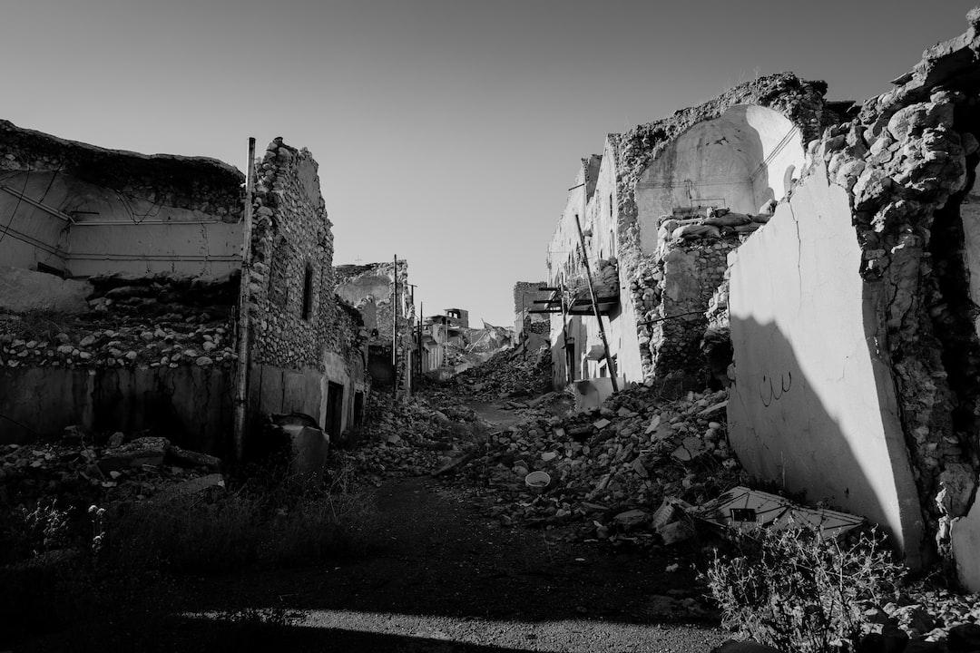 Ruined side-street in Shingal (Sinjar) following war with the Islamic State.
