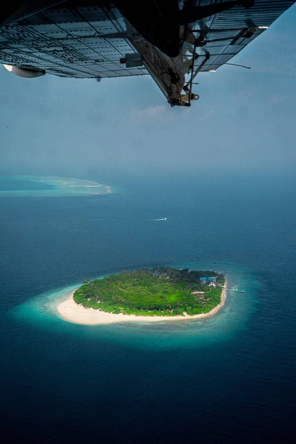 aerial view of green island during daytime