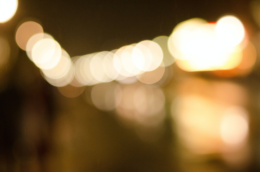 white lights in the dark