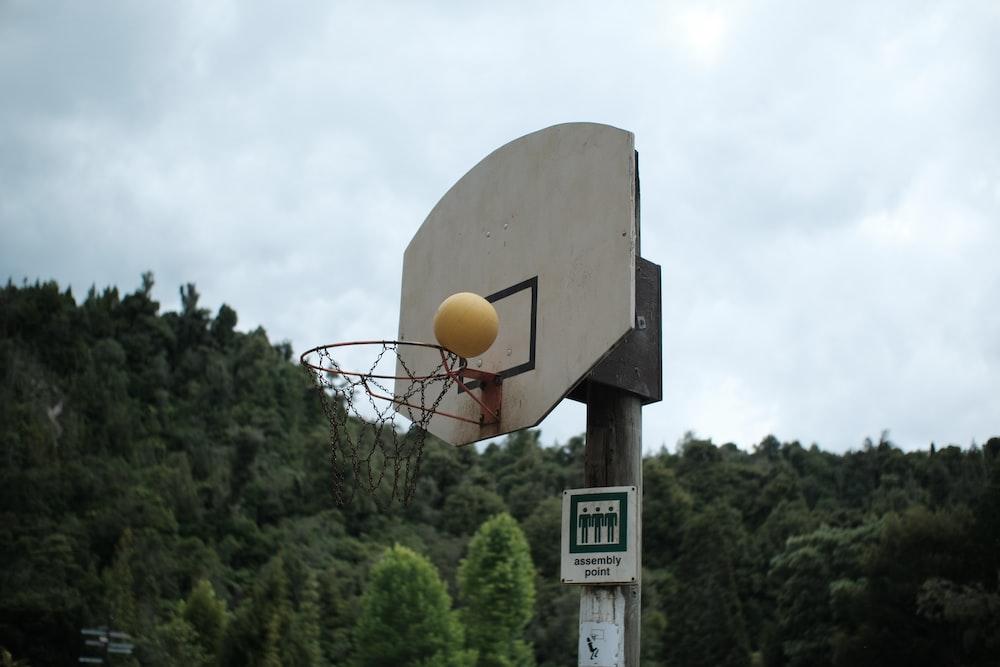 basketball hoop under white sky during daytime