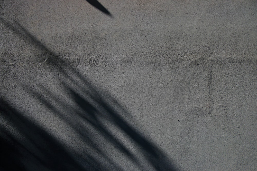 white textile with shadow of a person
