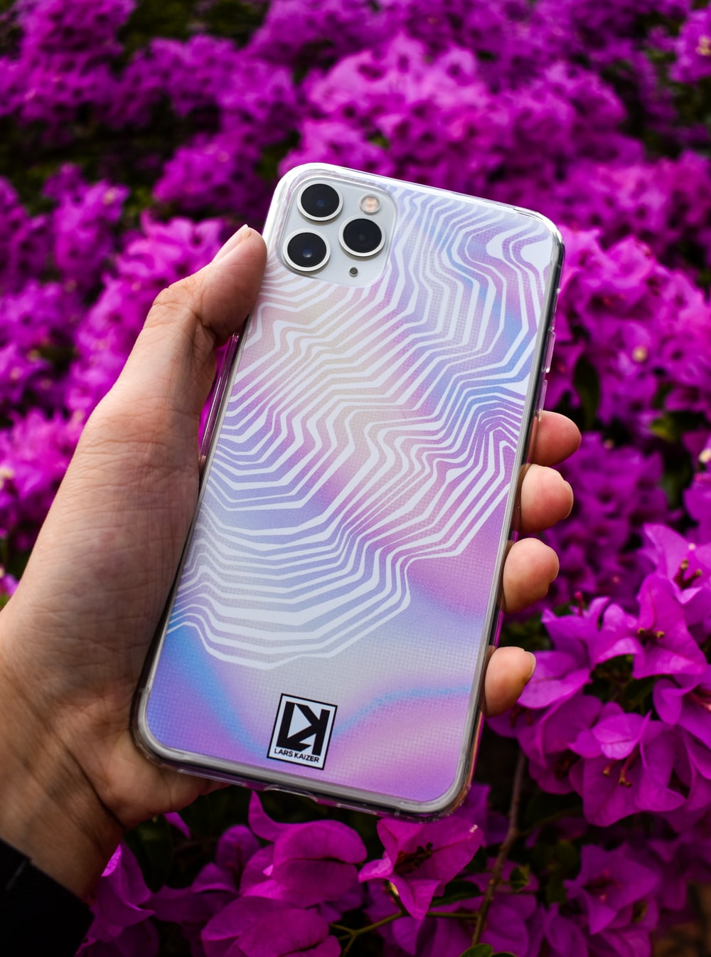 white and black smartphone case