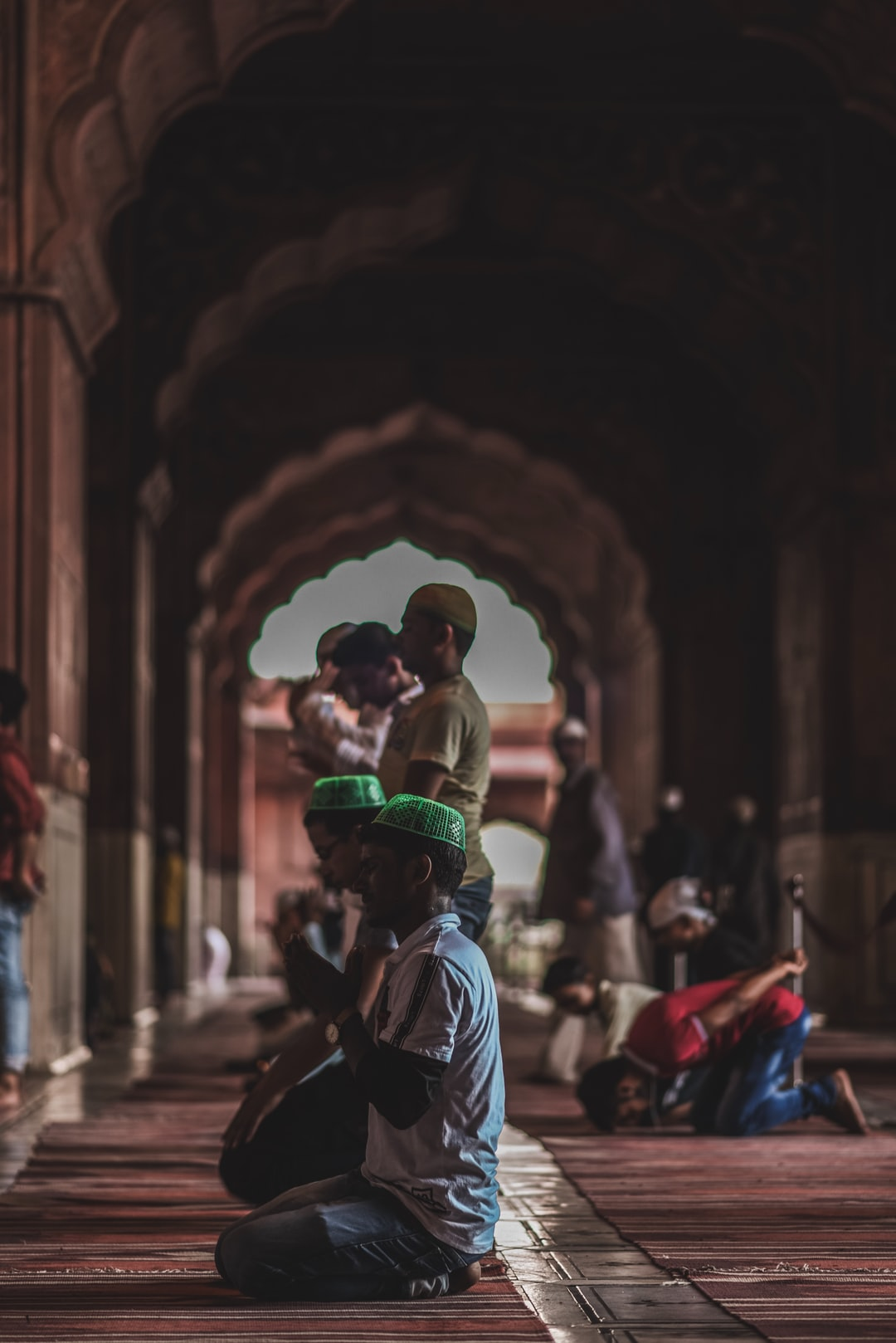 "Islamic prayer called ""Namaz"" at Jama Masjid Delhi"