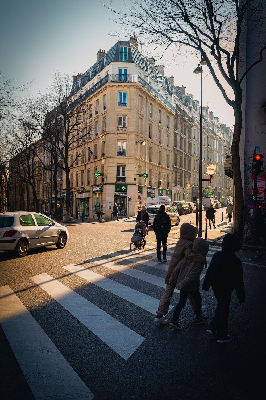 people walking on pedestrian lane near brown concrete building during daytime