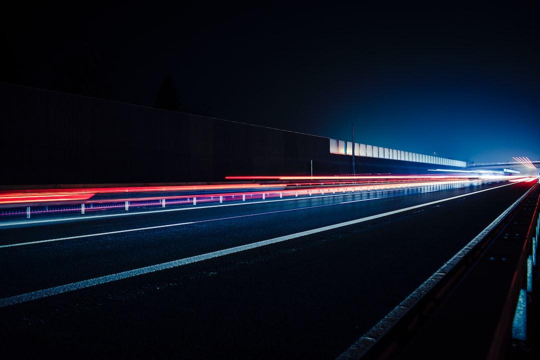 Highway at night –A73 Nuremberg to Bamberg