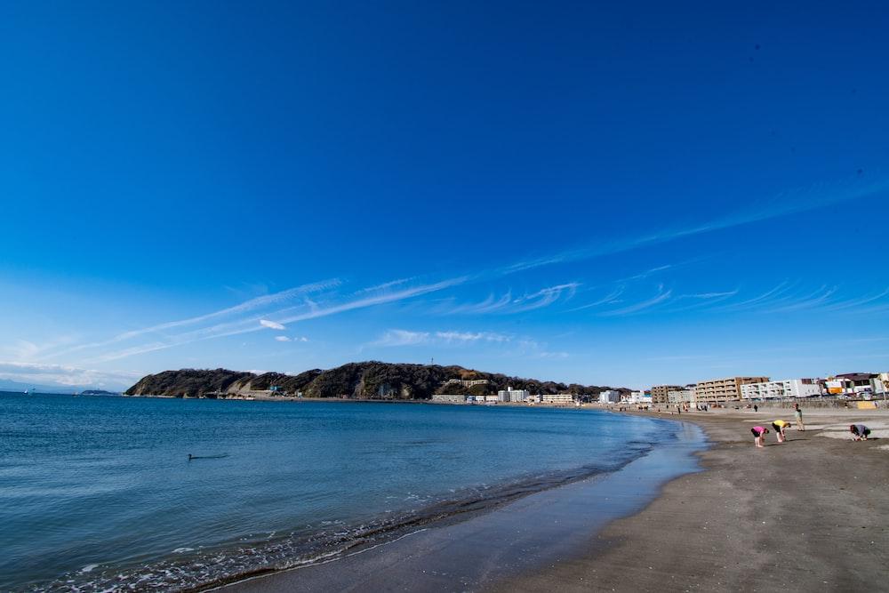 blue sky over the beach