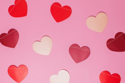 pink and white hearts illustration hearts teams background
