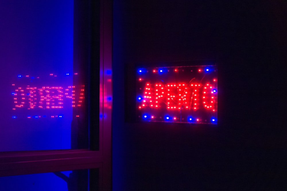 red and blue led light