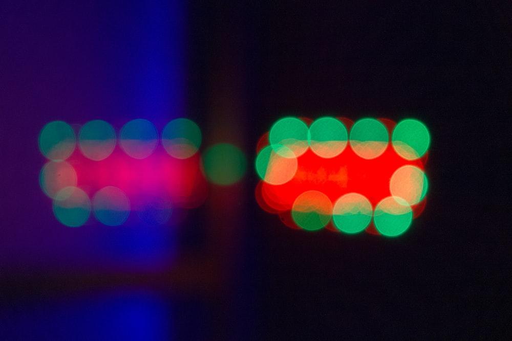 green and white bokeh lights