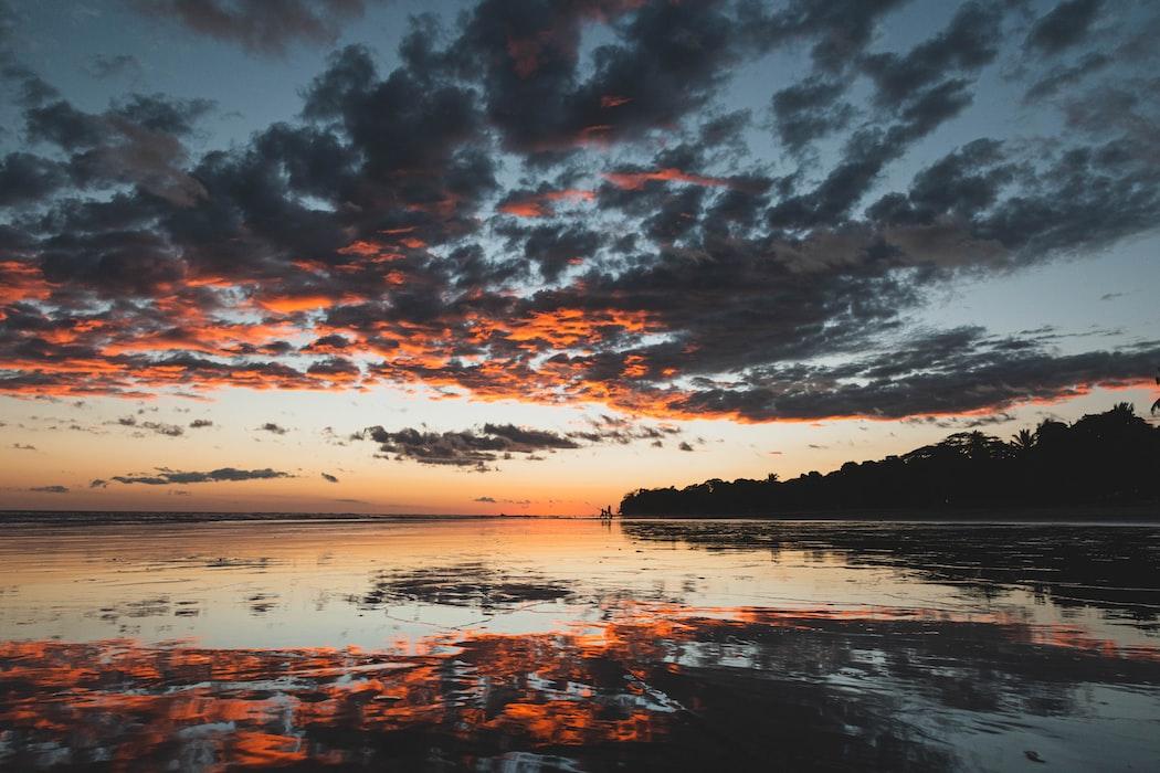 sunset at manuel anotonio beach, costa rica