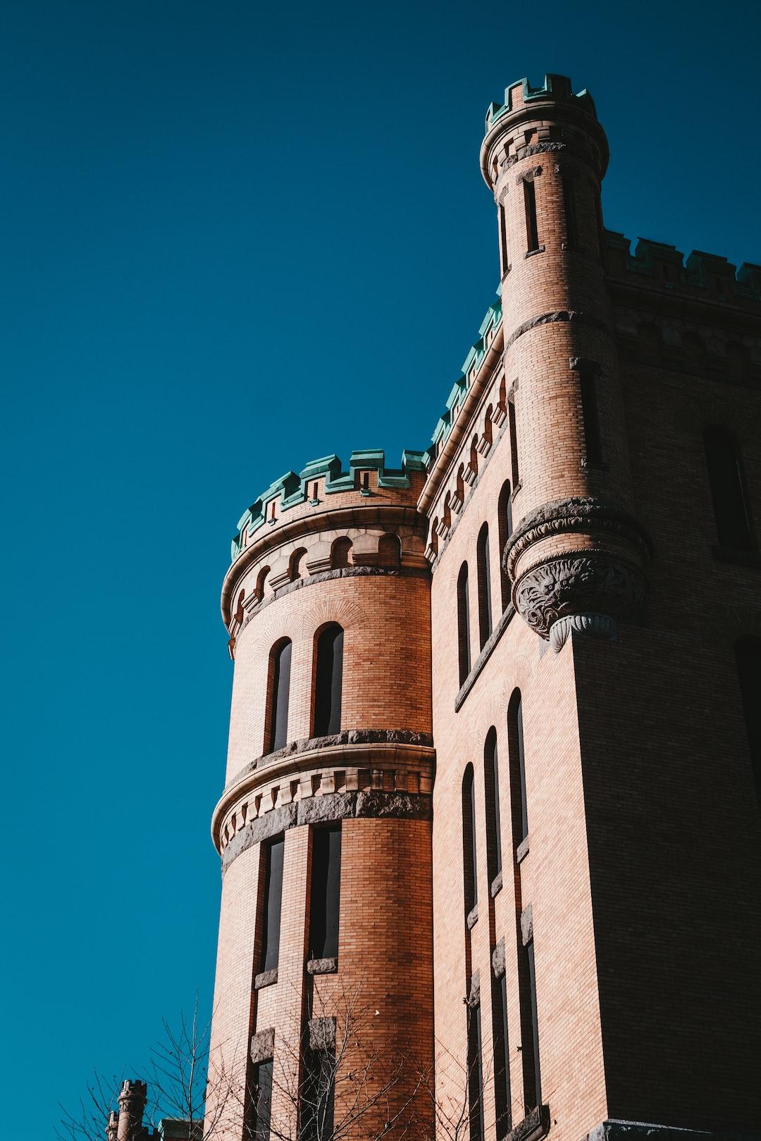 The armory looks like a castle.