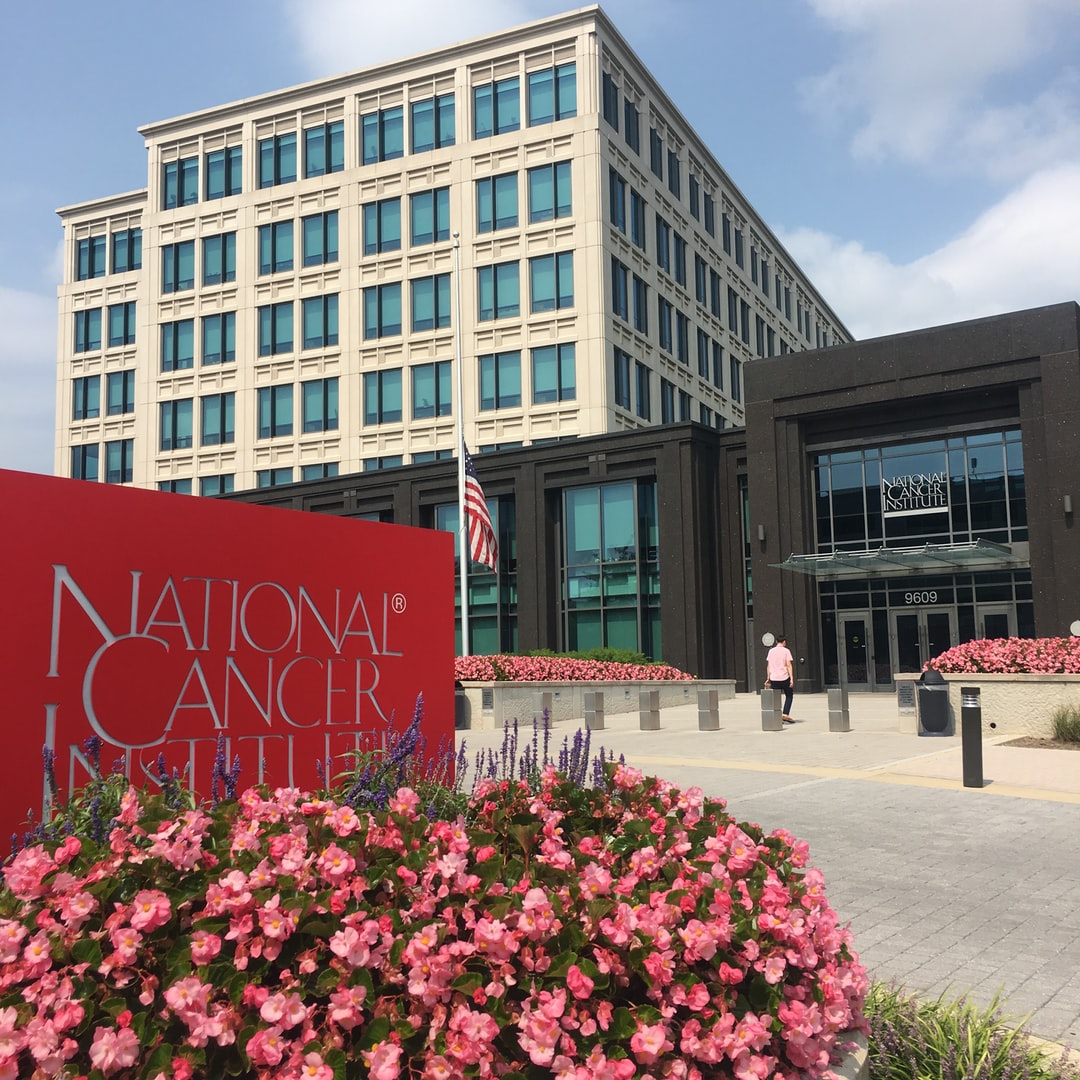 Exterior shot of the National Cancer Institute campus at Shady Grove, Maryland.
