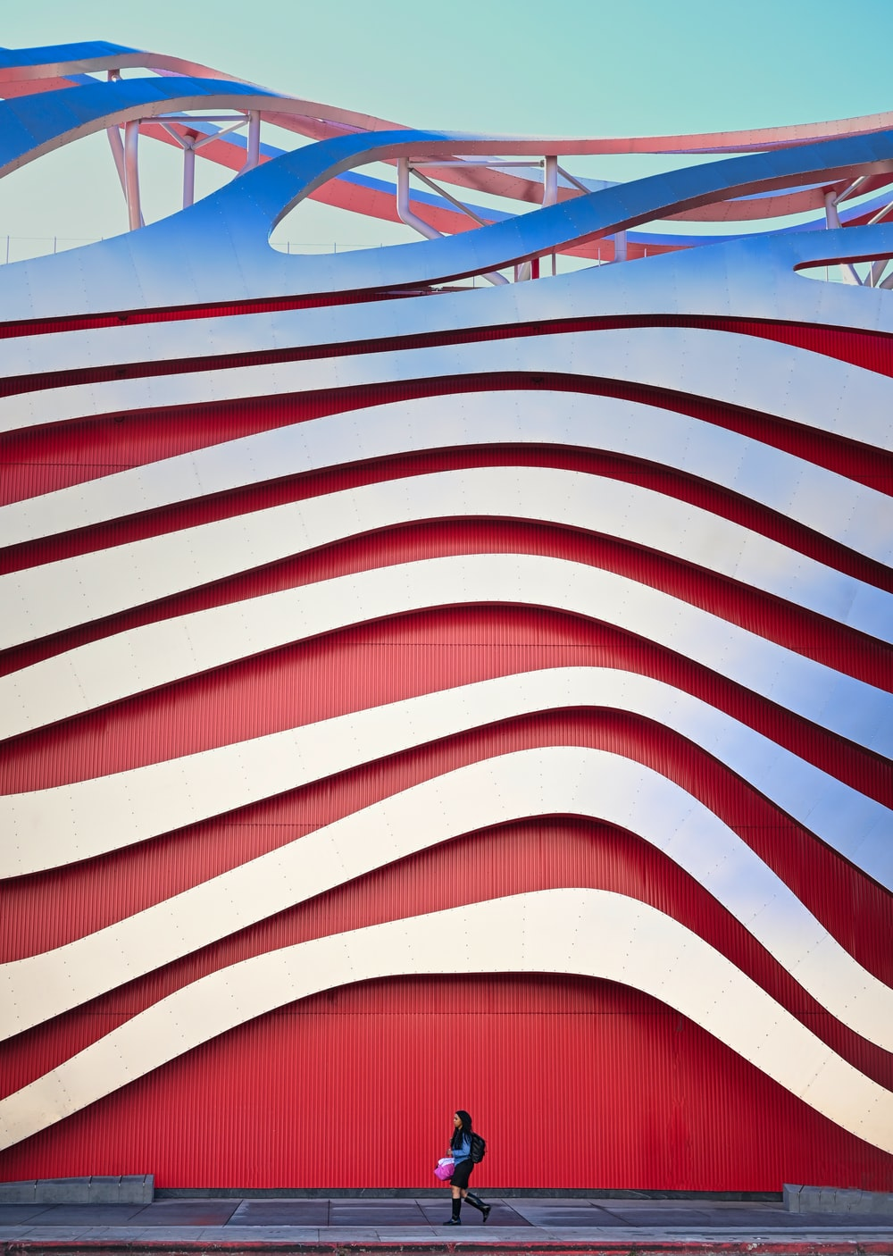 white and red striped roof